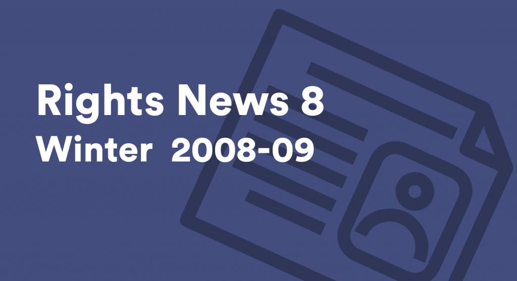 Rights News 8 Winter 2008-09