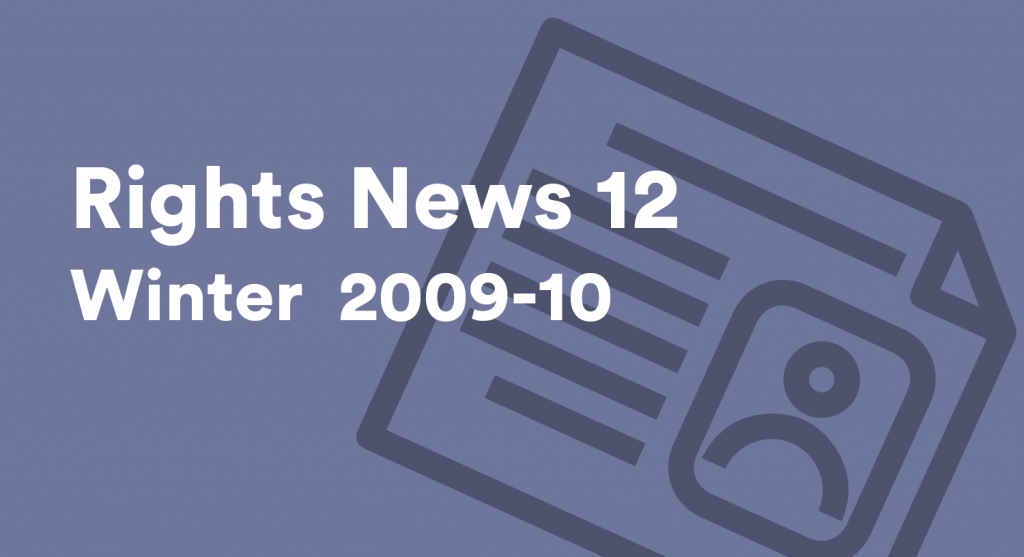 Rights News 12 Winter 2009 - 2010