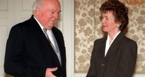 ICCL founder members Donal Barrington and Mary Robinson