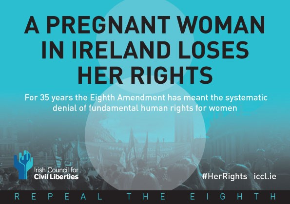 A pregnant woman in Ireland loses her rights. For thirty five years the eight amendment has meant the systematic denial of fundamental human rights for women