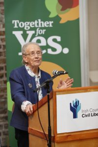 Justice Catherine McGuinness speaking at Under the Eighth