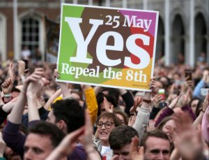 Irish people celebrate the historic yes vote on 25 May