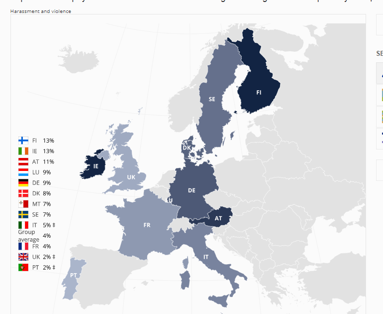map of europe showing hate crime figures