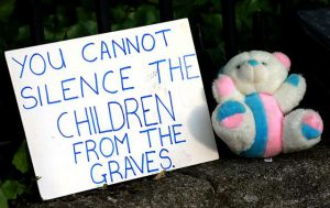 You cannot silence the children from the graves