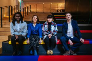 ICCL human rights film award jury L-R Bulelani Mfaco, Sorcha Pollak, Aoife Kelleher and Emmet Kirwan. Suzy Byrne will chair the jury.