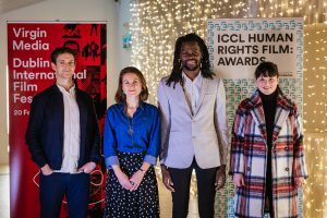 Virgin Media DIFF Dublin Human Rights Film Award 3 - Emmet Kirwan, Sorcha Pollack, Bulelani Mfaco and Aoife Kelleher