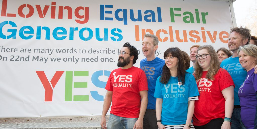 Yes Equality billboard launch 17.4.15 Pic Paul Sharp/SHARPPIX