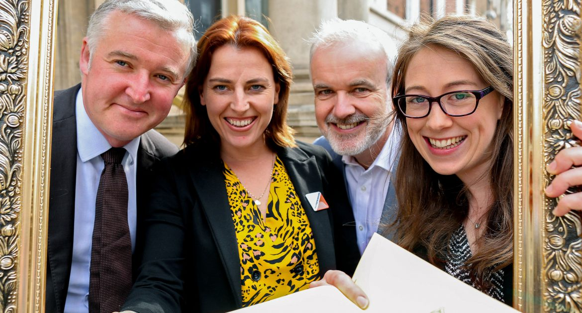 (L-R) Liam Herrick, executive director of ICCL, Senator Lynn Ruane, Colm O'Gorman, executive director of Amnesty International Ireland and April Duff, chairperson of Education Equality at the launch in Buswells.